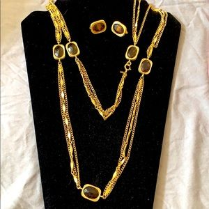 Sarah Coventry 1967 necklace/earrings GoldenEmbers